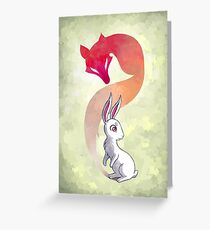 Rabbit and a Fox Greeting Card
