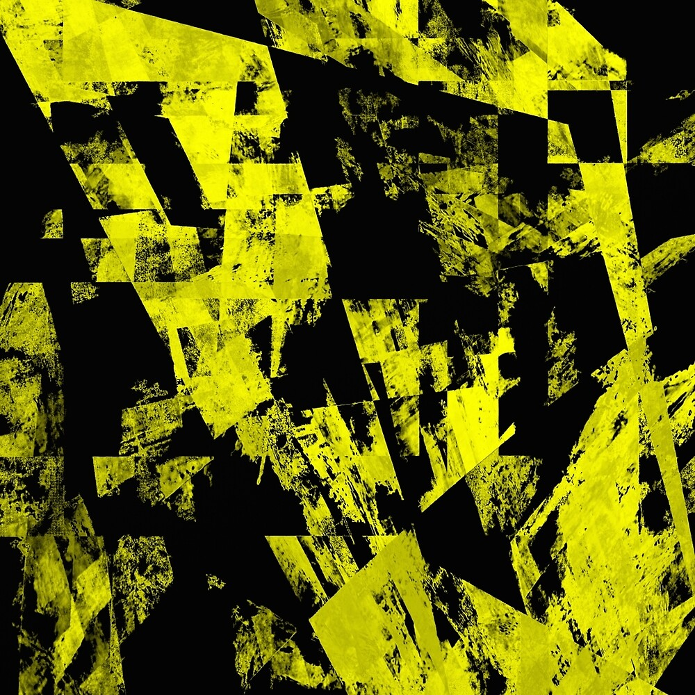 Fractured Yellow by Printpix