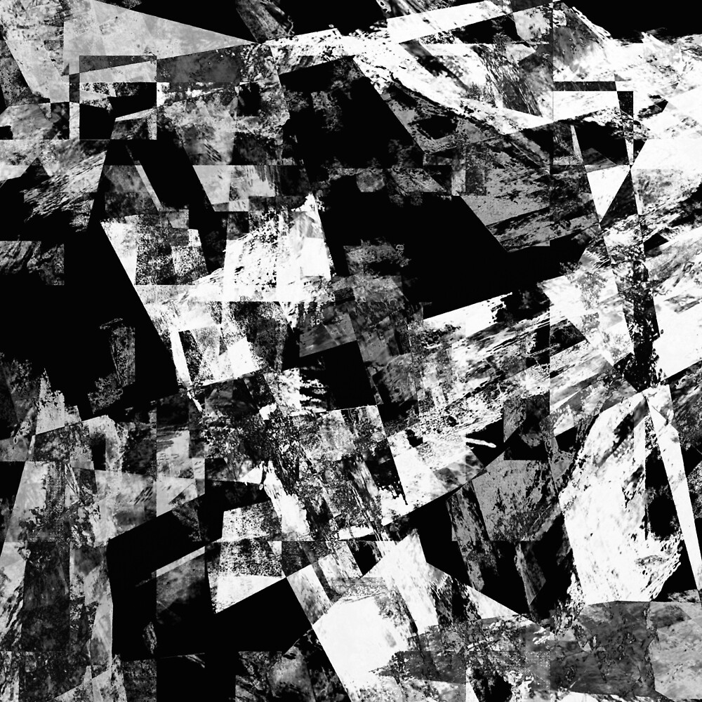Fractured Black And White by Printpix