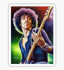 Lynott Thin Lizzy portrait painting Sticker