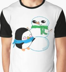 Chilly Penguin Friend Graphic T-Shirt