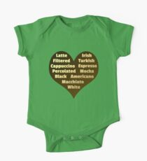 Love for Coffee One Piece - Short Sleeve