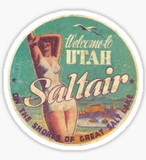 Utah Saltair Salt Lake City Vintage Travel Decal Sticker