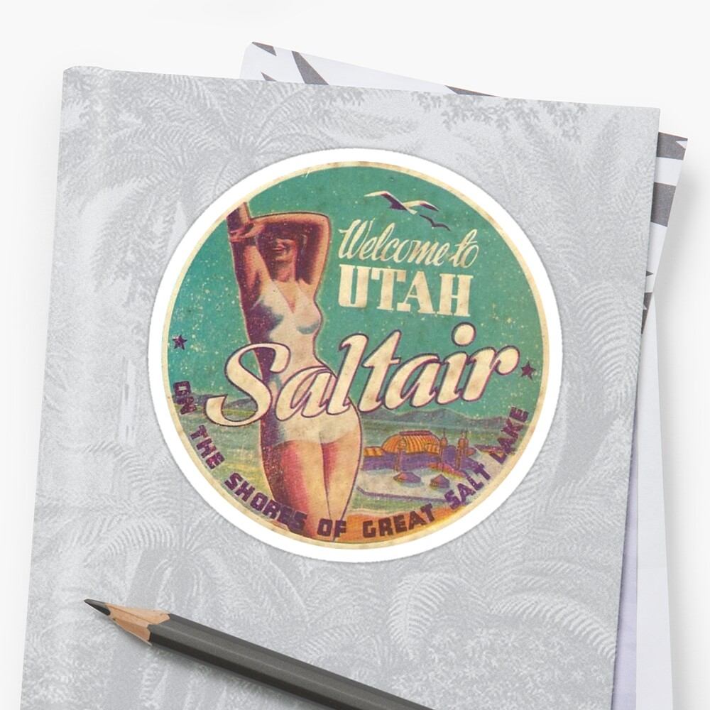 Utah Saltair Salt Lake City Vintage Travel Decal by hilda74