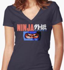 Ninja Gaiden (NES) Women's Fitted V-Neck T-Shirt