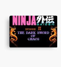 Ninja Gaiden 2 (NES) Canvas Print