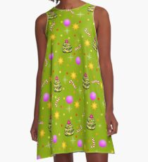 Christmas Trees A-Line Dress