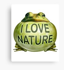 I Love Nature Frog Canvas Print