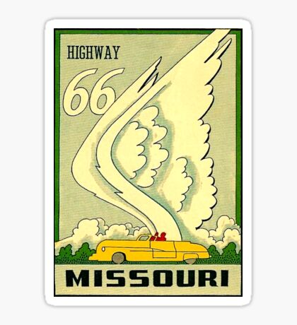 Missouri State Route 66 Highway Vintage Travel Decal Sticker