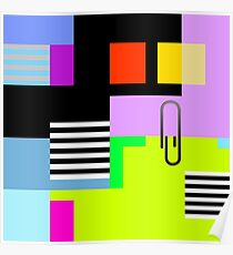 Tidy Office Abstract Poster