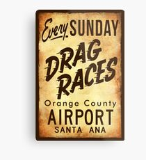 Drag Races Poster Art Metal Print
