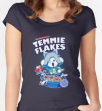 Temmie Flakes! Women's Fitted Scoop T-Shirt