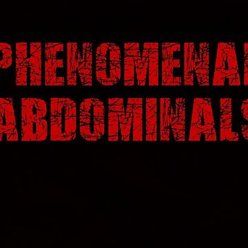 Phenomenal Abdominals (Red on Black) by xkid-official