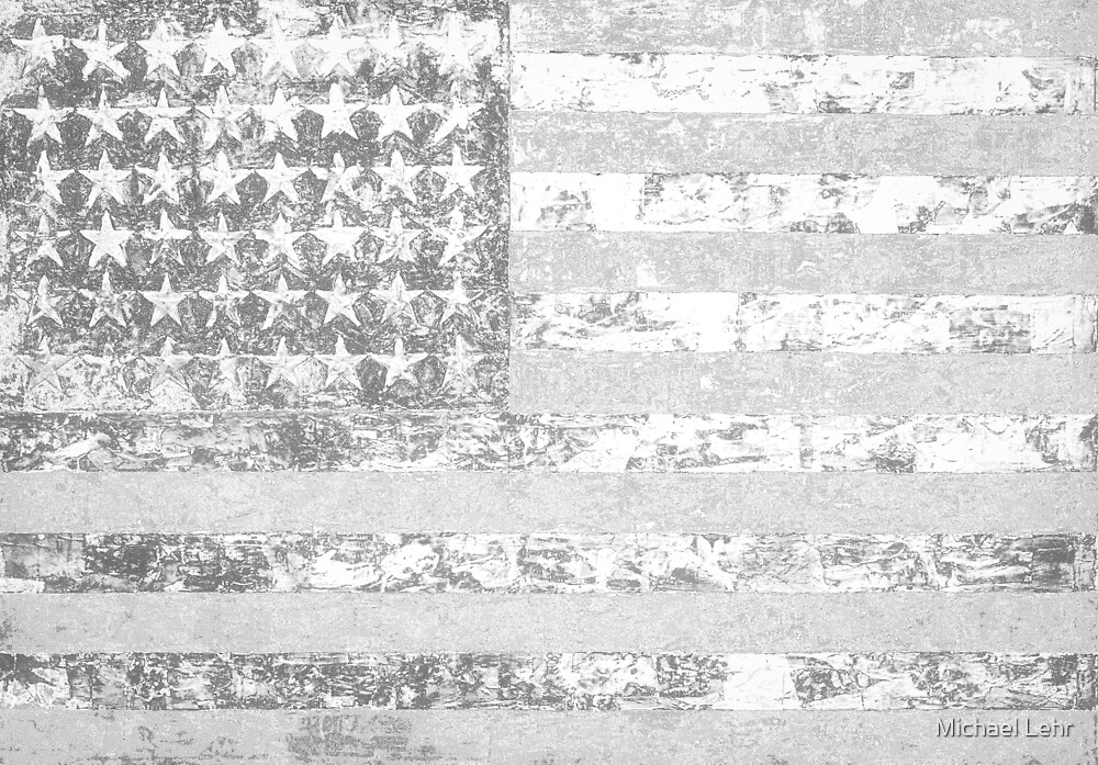 White flag appropriated from Jasper Johns by Michael Lehr
