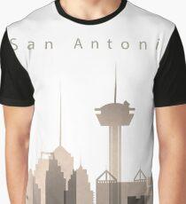 San Antonio Skyline, Texas, Sepia Color  Graphic T-Shirt