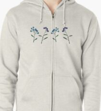 Forget-Me-Nots Zipped Hoodie