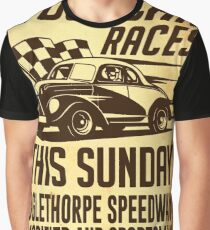 Stock Car Races Graphic T-Shirt