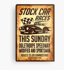 Stock Car Races Metal Print