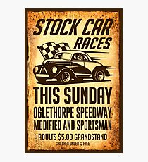 Stock Car Races Photographic Print