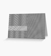 Stripe Blocks Greeting Card