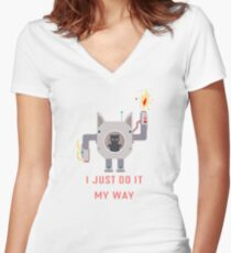 I Just Do It My Way Motivation Women's Fitted V-Neck T-Shirt