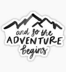 The Adventure Begins Sticker