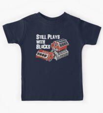 Still Plays With Blocks Kids T-Shirt