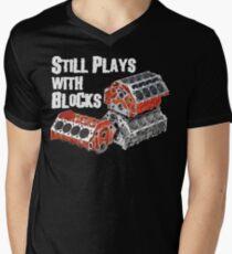 Still Plays With Blocks Men's V-Neck T-Shirt