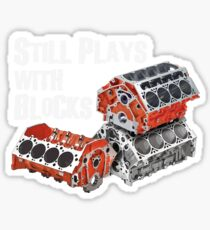 Still Plays With Blocks Sticker