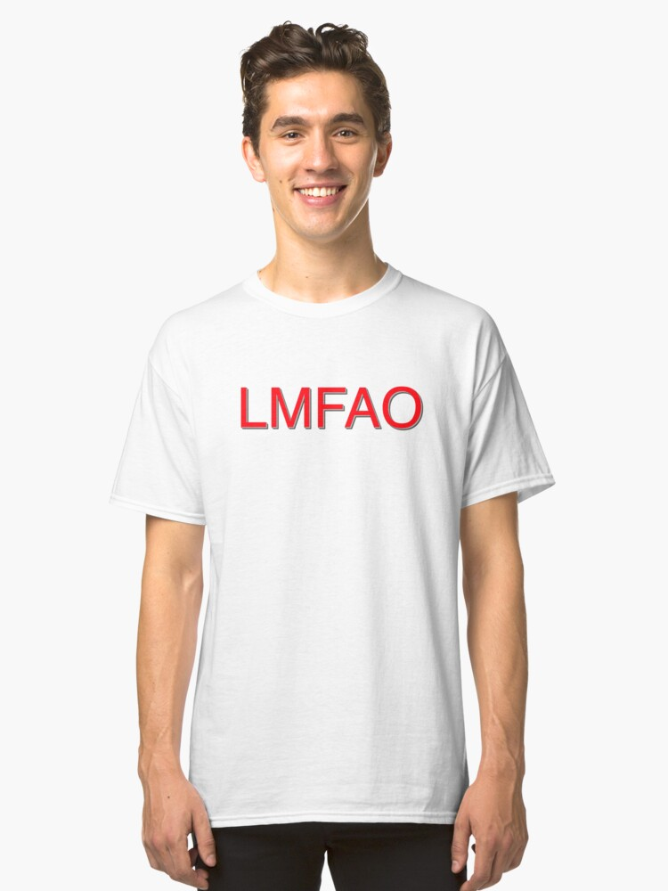 LMFAO RED Classic T-Shirt Front