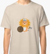 Löwe Wikinger mit Helm Classic T-Shirt