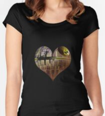 Death Heart Star  Women's Fitted Scoop T-Shirt