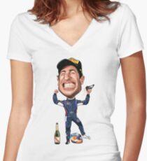 Daniel Ricciardo 2017 Women's Fitted V-Neck T-Shirt