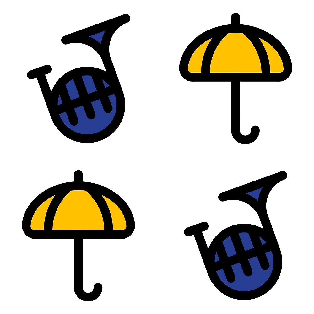 Blue French Horn/Yellow Umbrella - How I met your mother by HIMYM-EAFAM