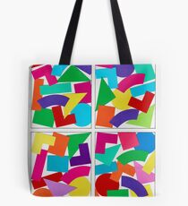 COLOR COMPOSITIONS WITH FIGURES Tote Bag