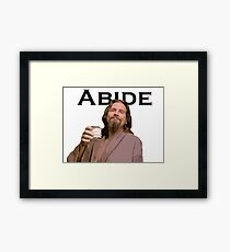 The Dude Shirt Framed Print