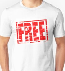 FREE red rubber stamp effect Unisex T-Shirt