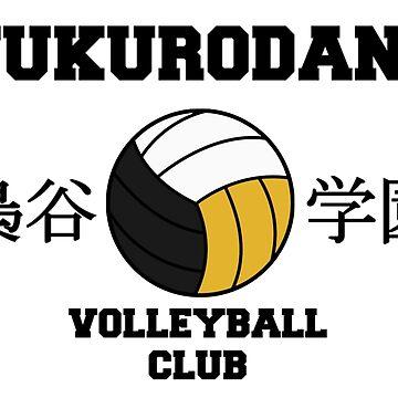 Fukurodani Volleyball Club Black by hawkeyedpeas