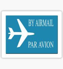 By Airmail sticker effect Sticker