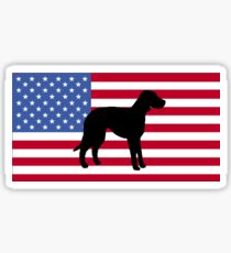 CLD silhouette on flag Sticker
