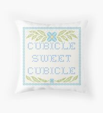 Cubicle Sweet Cubicle Throw Pillow