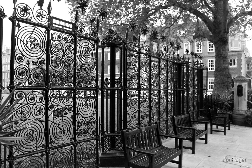 Park gate in New Square, London by JonPaget