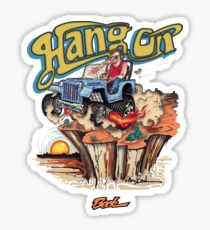 Hang On Jeep Sticker