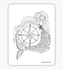 Thessalonike – Macedonian #Mermaid with Compass Sticker