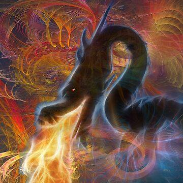 Dragon Fire (Square Version) - By John Robert Beck by studiobprints