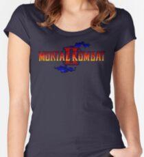 Mortal Kombat 2 (Genesis Title Screen) Women's Fitted Scoop T-Shirt