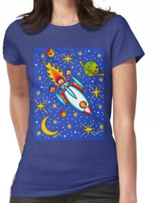 Rocket to the Stars Womens Fitted T-Shirt