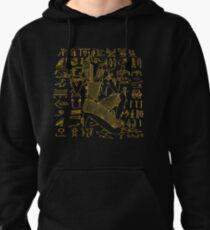 Egyptian Anubis & Hieroglyphics Pullover Hoodie