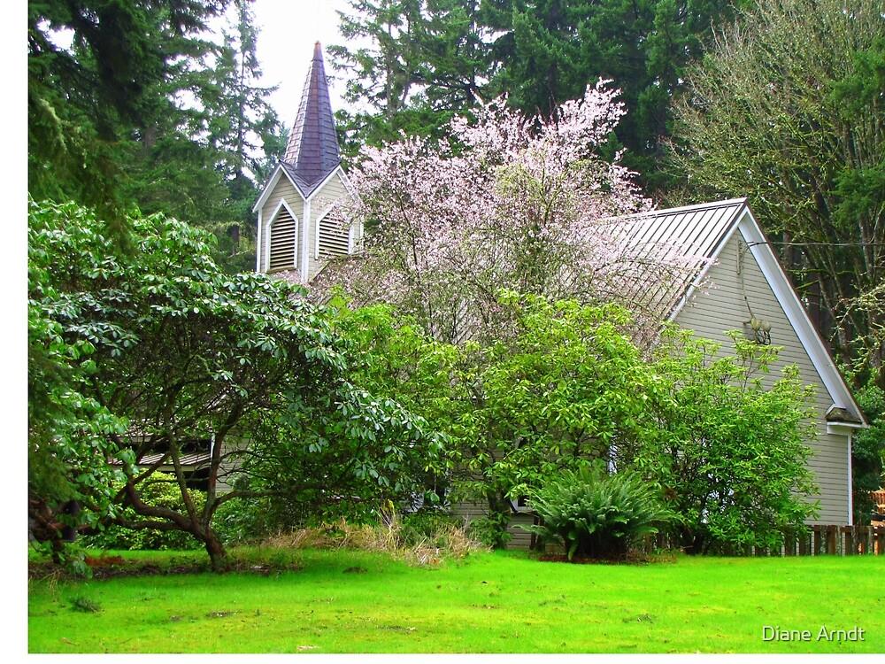 Pretty Country Church In Poulsbo, Washington by Diane Arndt