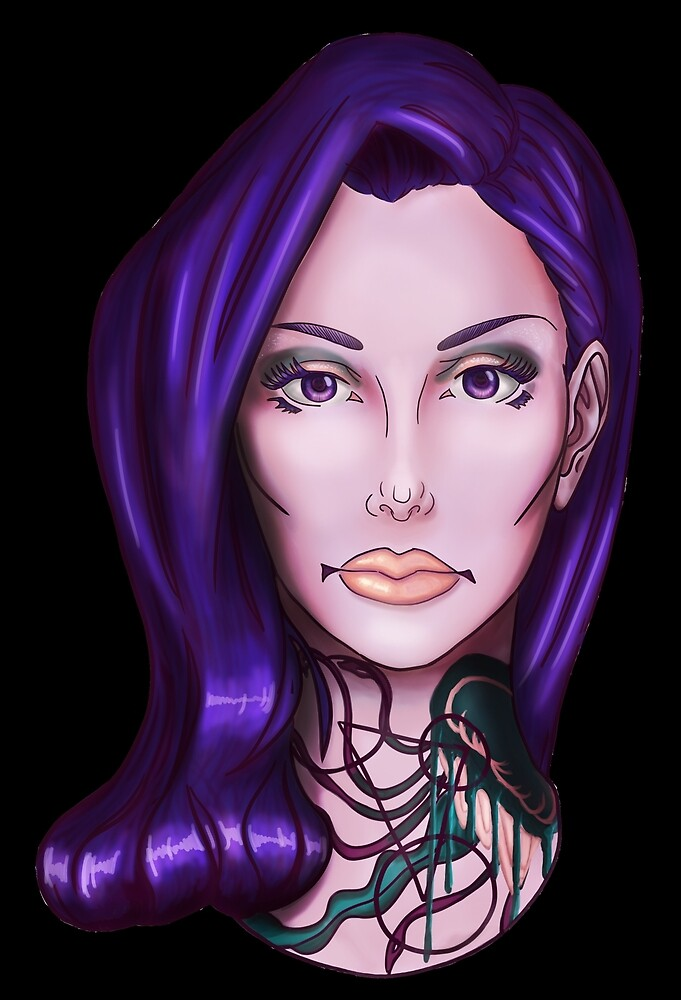 Mary with the Purple Hair by Nicole Moeckli